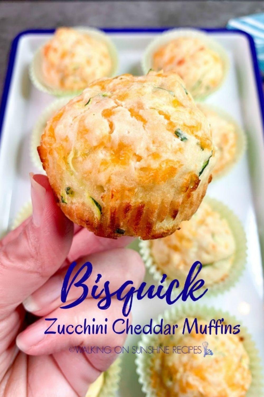 Bisquick Zucchini Cheddar Muffins.