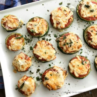 Easy Low Carb Zucchini Pizza Bites