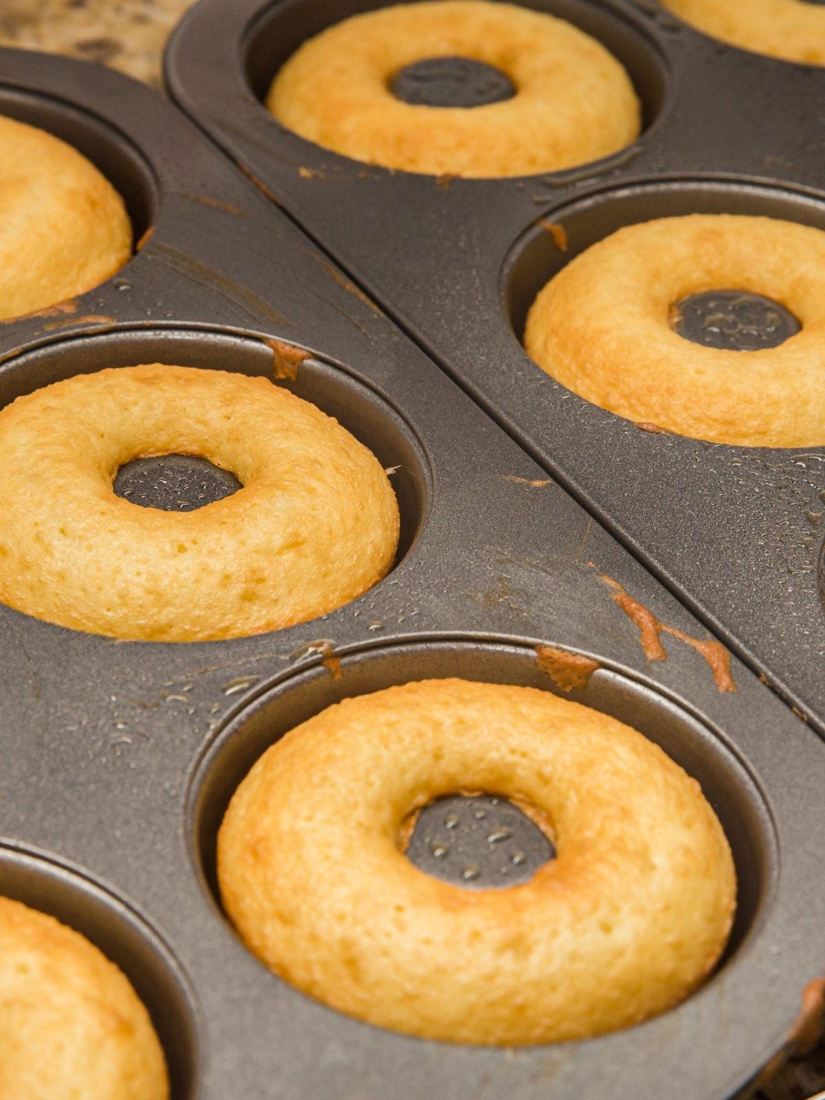 Pumpkin Donuts Baked in donut pan.