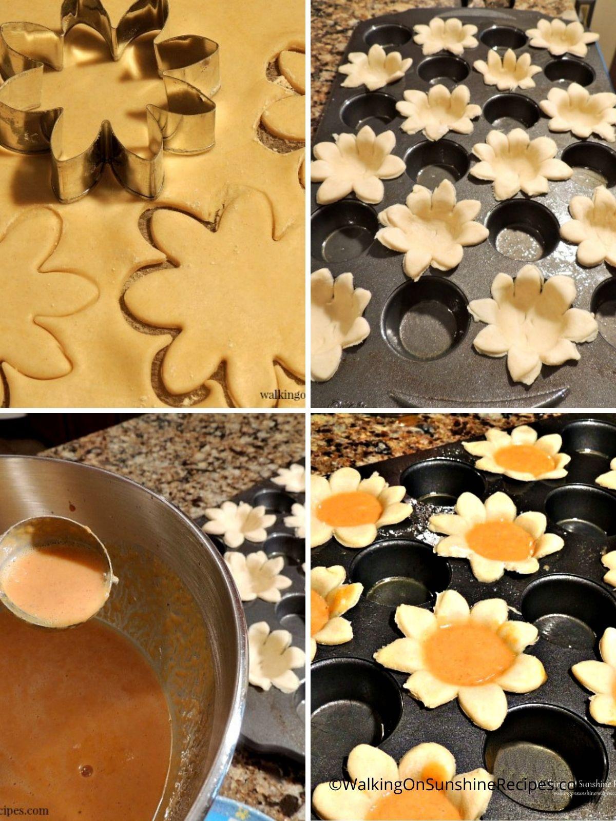 Pumpkin Pie Flowers Process Photos