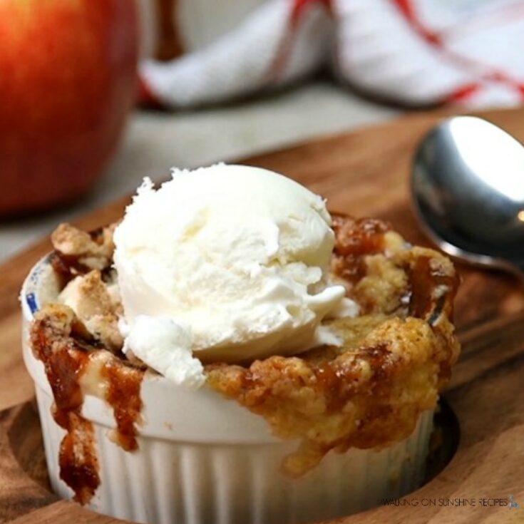 EASY Caramel Apple Dump Cake with VIDEO