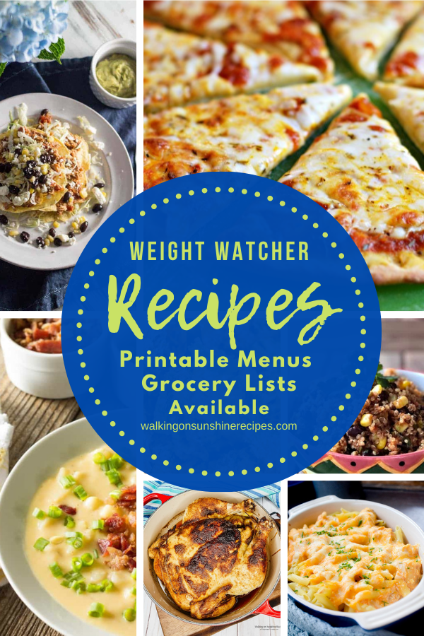 7 Weight Watcher Recipes with points for weekly meal plan 6.