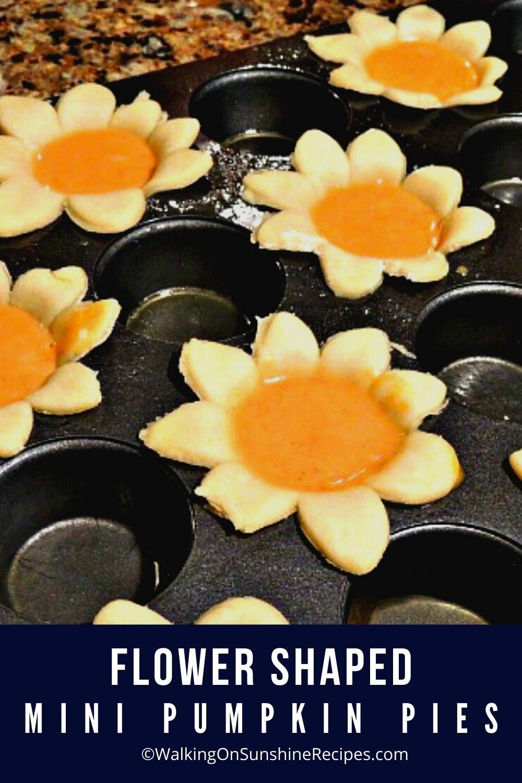 Flower Shaped Mini Pumpkin Pies Pin