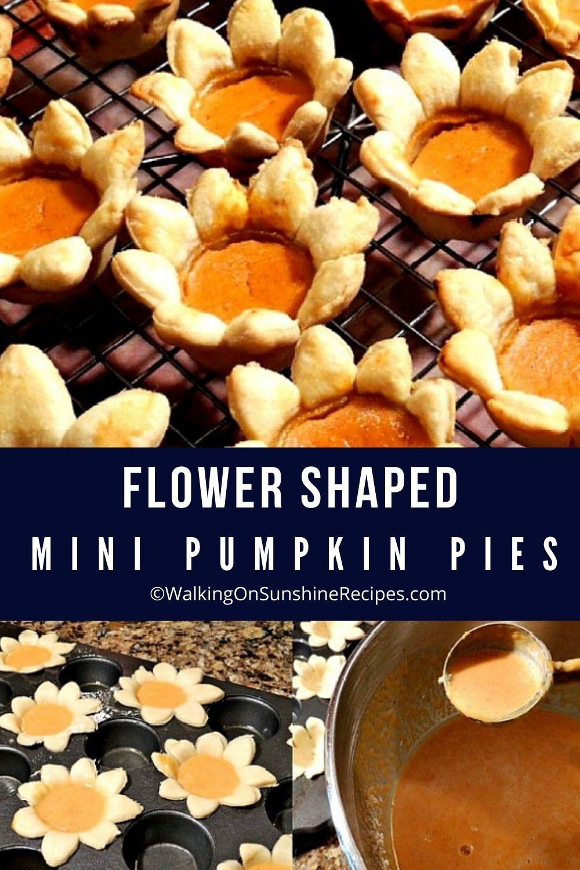 Flower Shaped Mini Pumpkin Pies Pin3