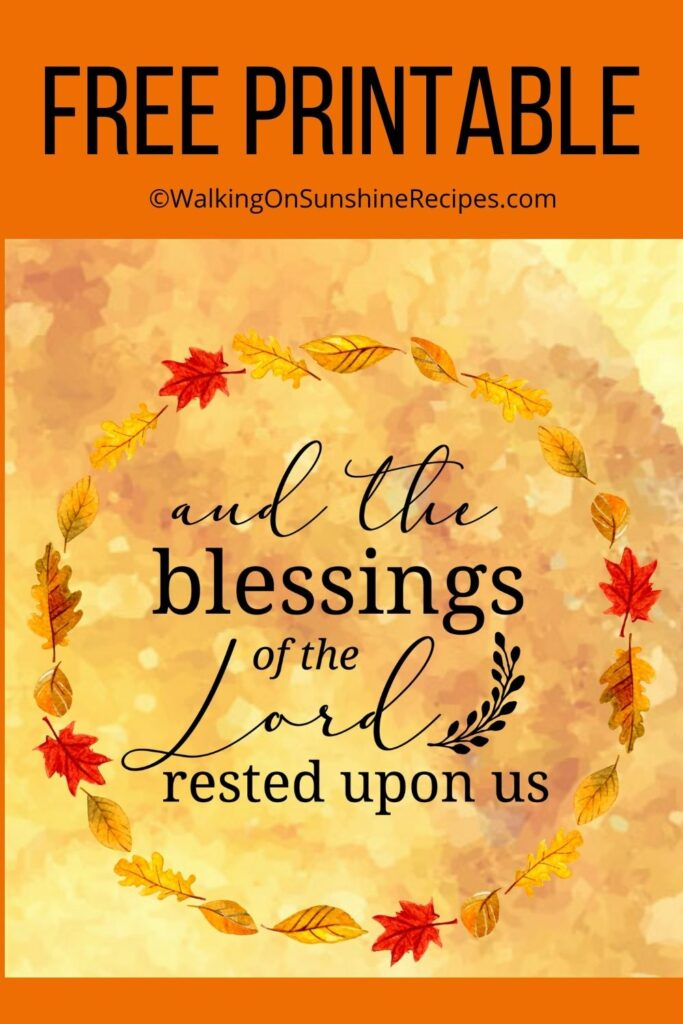 Psalms blessings and promises printable