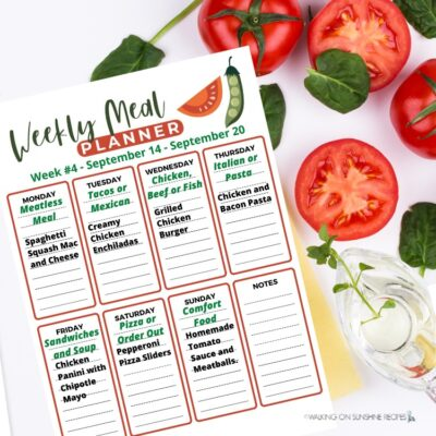 Meal Plan 4 – Easy Recipes for Dinner Every Night
