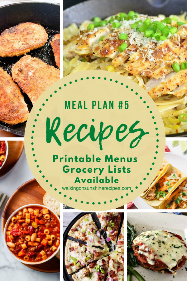 7 delicious recipes featured with meal plan 5.