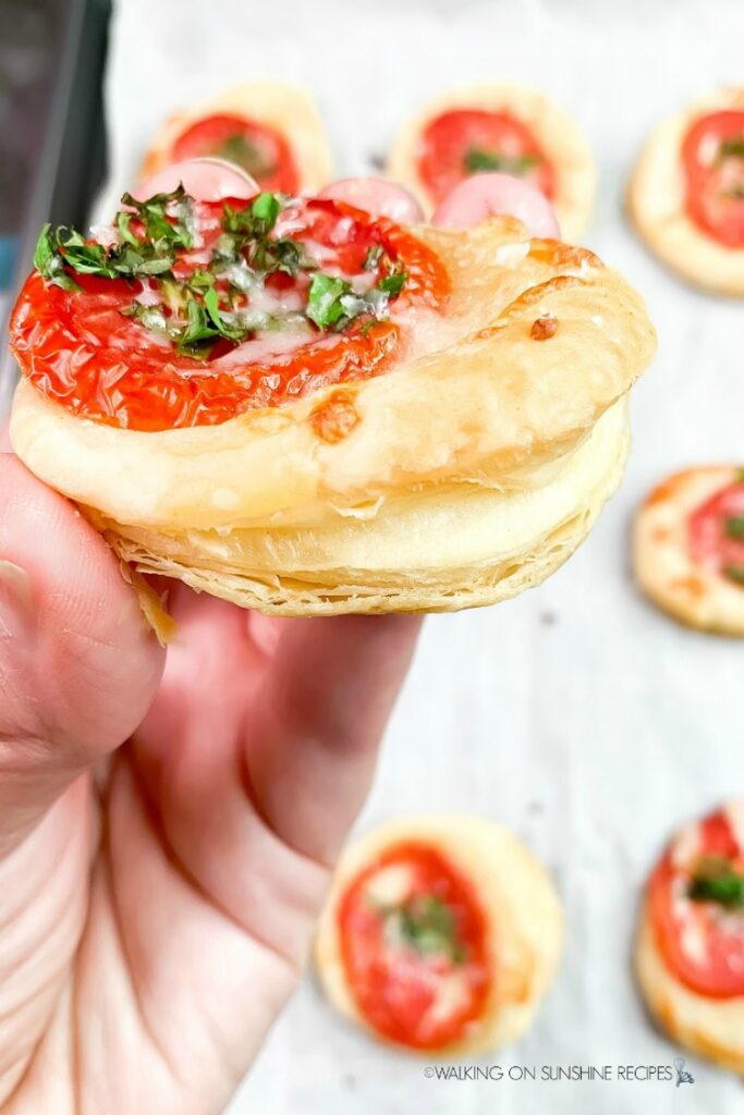 Puff Pastry Tomato Tart baked with fresh herbs