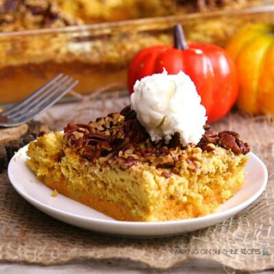 Pumpkin Crunch Cake with VIDEO