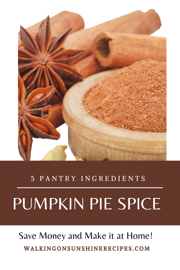 pumpkin pie spice in wooden bowl with star anise seed.