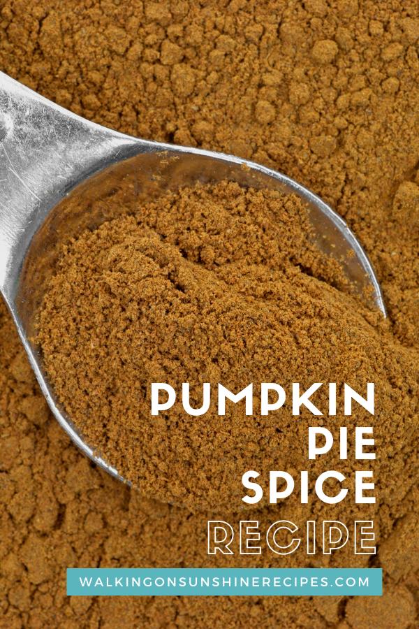 measuring spoon with pumpkin pie spice.