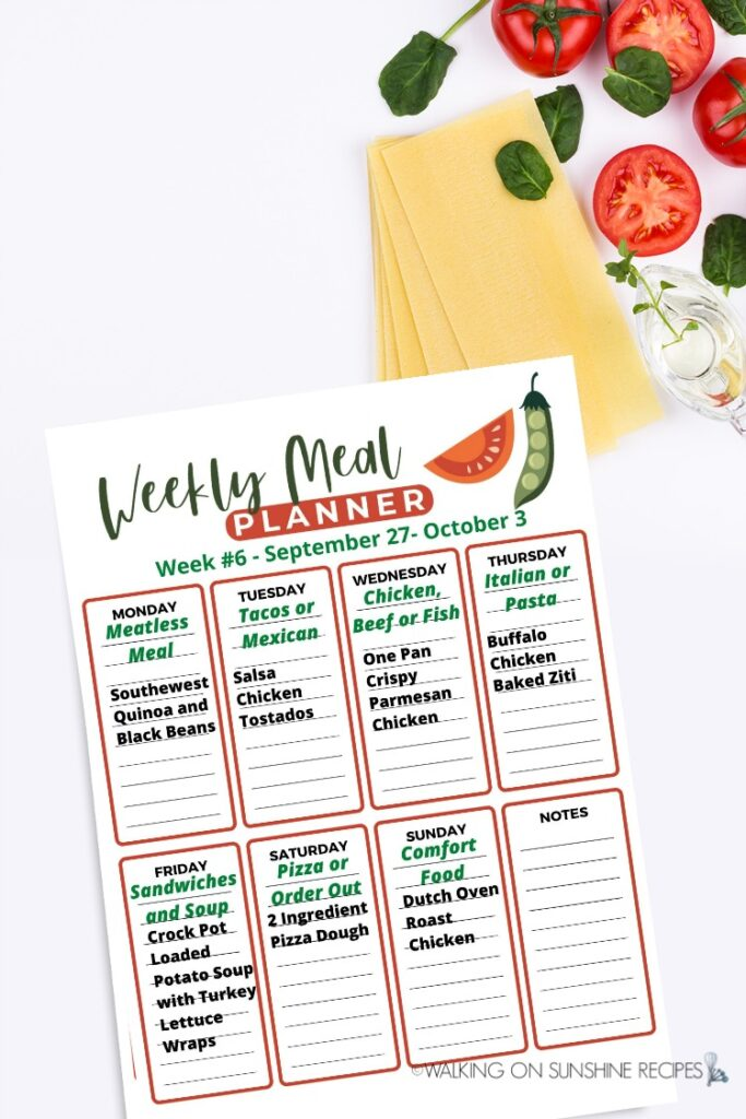 Weekly Meal Plan 6