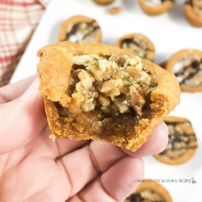 Pumpkin Spice Pecan Pie Cookie Cups