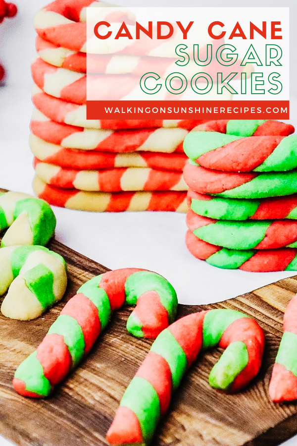 red, and green candy cane sugar cookies.