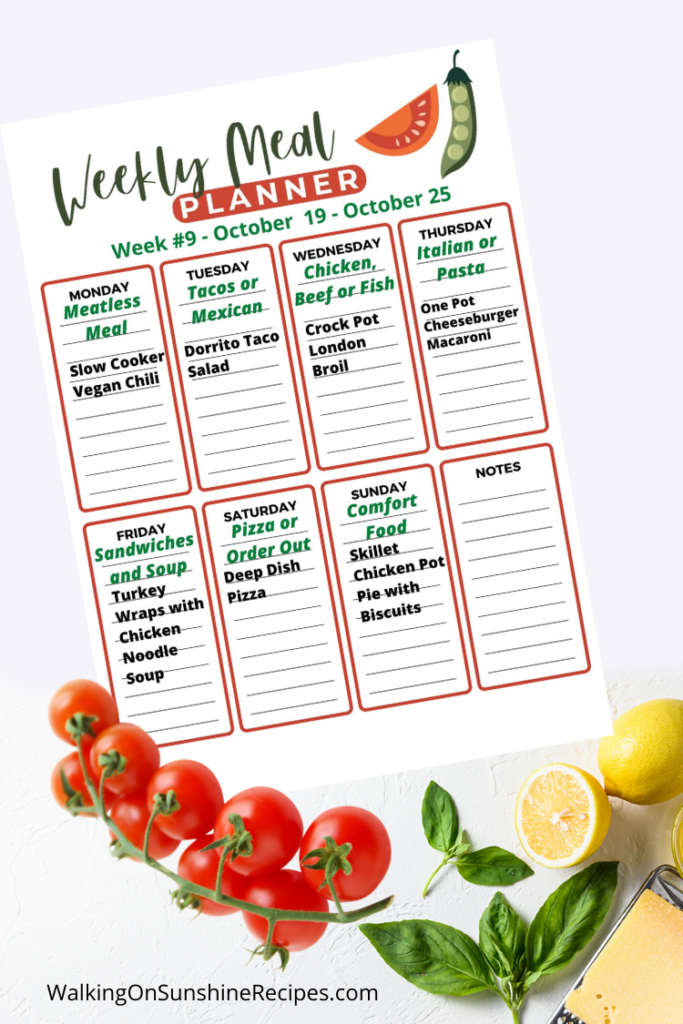 Meal Plan 9 Kid Friendly Recipes
