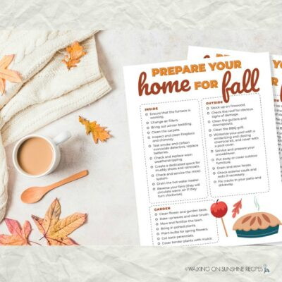 Prepare your Home for Fall PRINTABLE