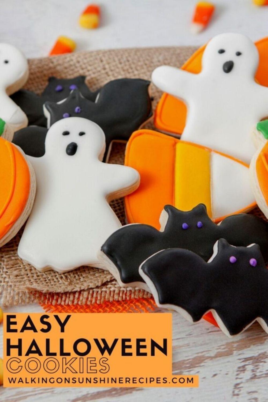 Halloween cutout sugar cookies.