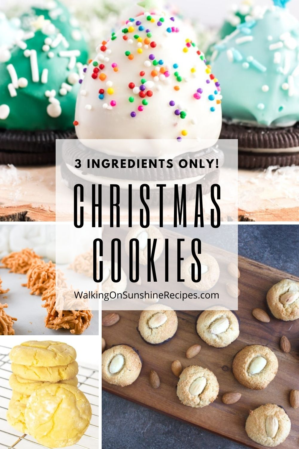 4 different cookies that only have 3 ingredients!