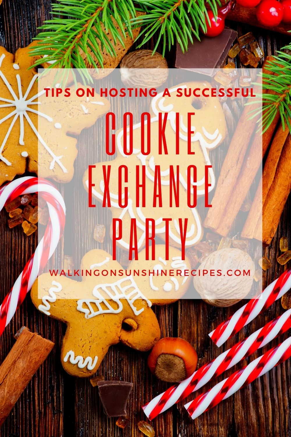 Christmas cookies with candy canes and cookie swap ideas.
