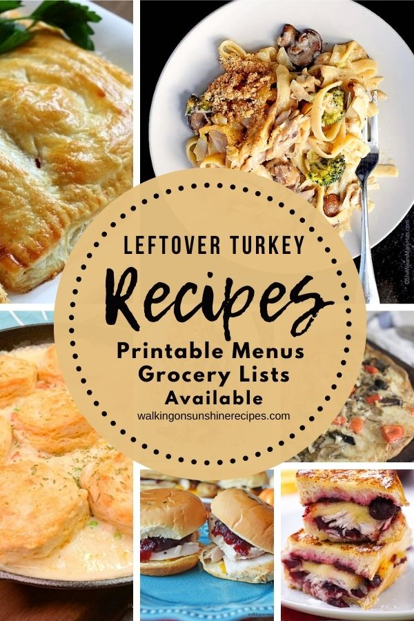 Leftover turkey recipes for dinner this week.