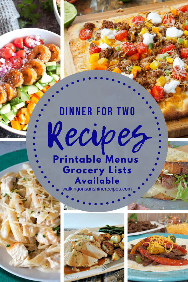 7 recipes perfect for Dinner for Two Weekly Meal Plan