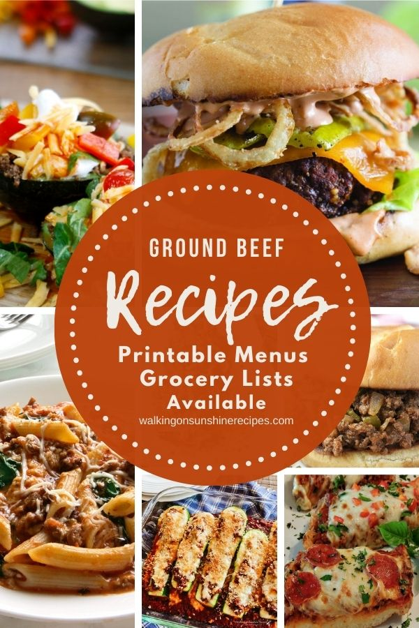 Ground beef recipes for dinner.