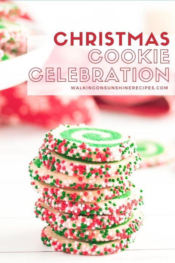 Pinwheel sprinkle cookies