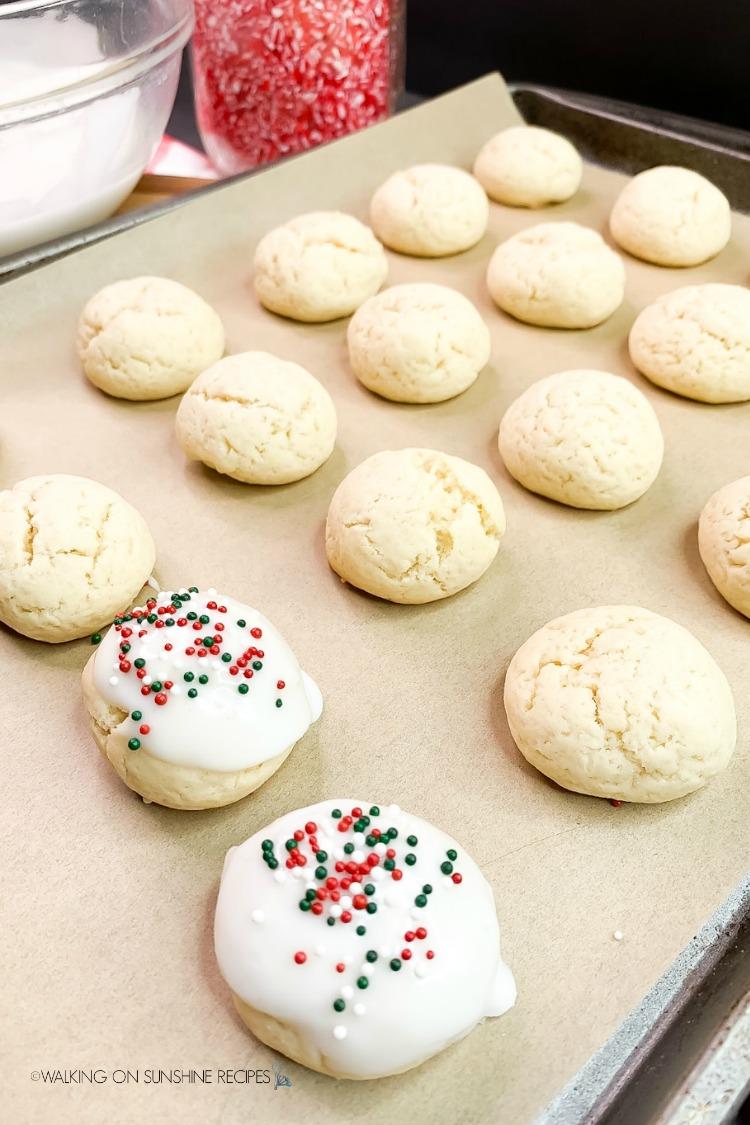 Add sprinkles to Best Italian Christmas Cookies