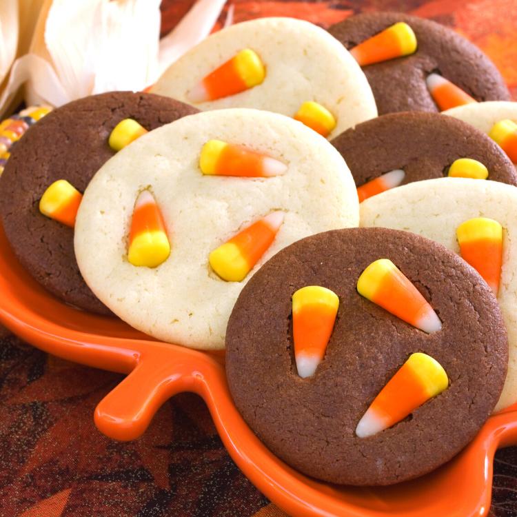 candy corn sugar cookies