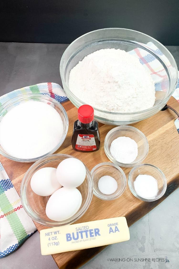 Ingredients for Best Italian Christmas Cookies