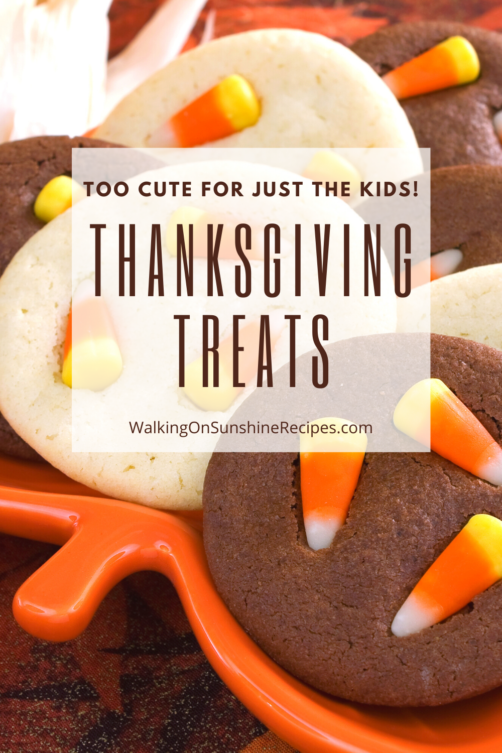 Sugar cookies with candy corn