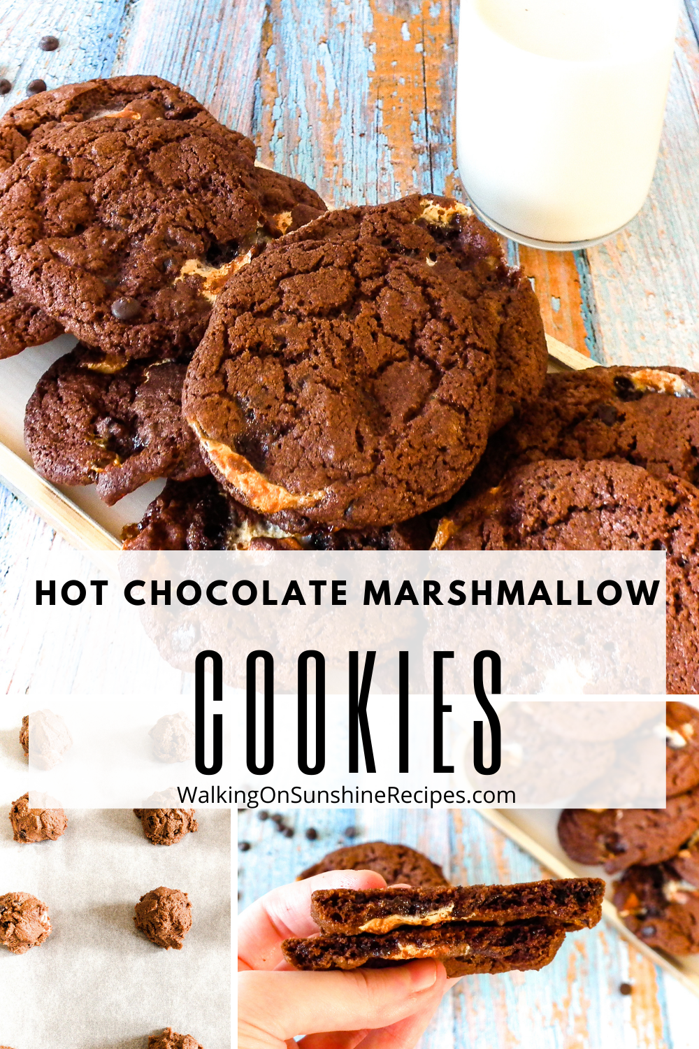 Chocolate cookies made with marshmallow bits.
