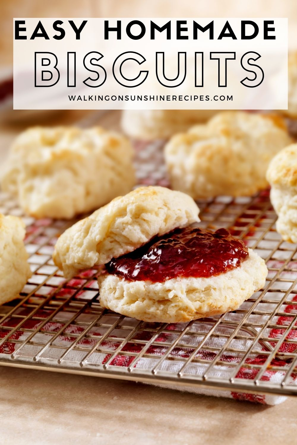 best homemade biscuits served with jam.
