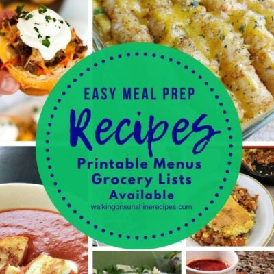 Meal Plan #15 – Easy Meal Prep Recipes