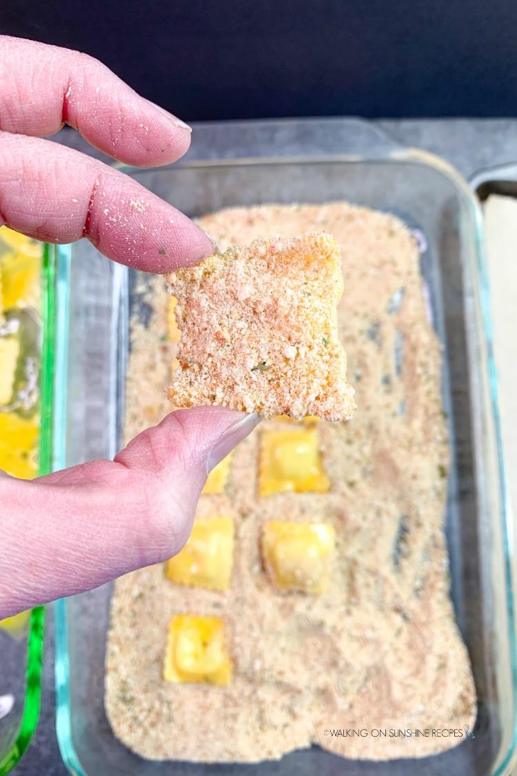 Breaded  mini ravioli