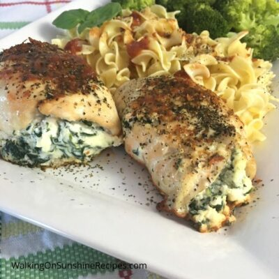 Chicken Stuffed with Ricotta Cheese and Spinach