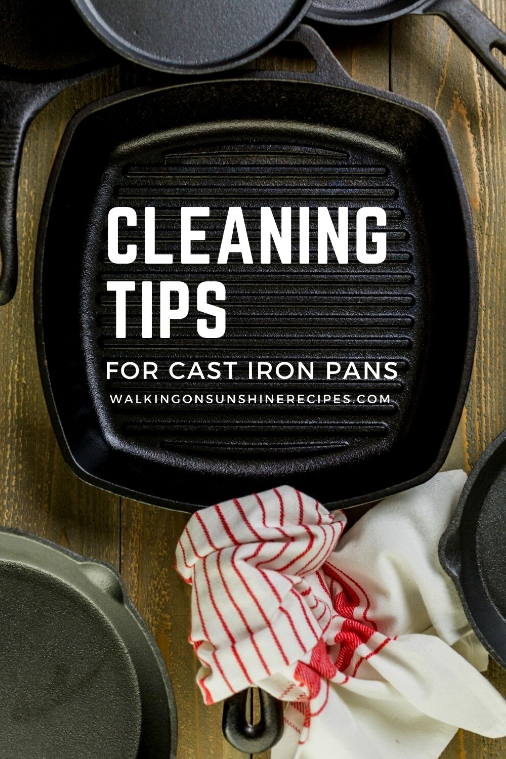 how to clean cast iron grill pan.