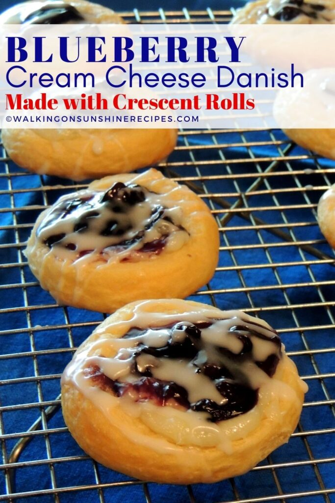 blueberry cream cheese danish crescent rolls