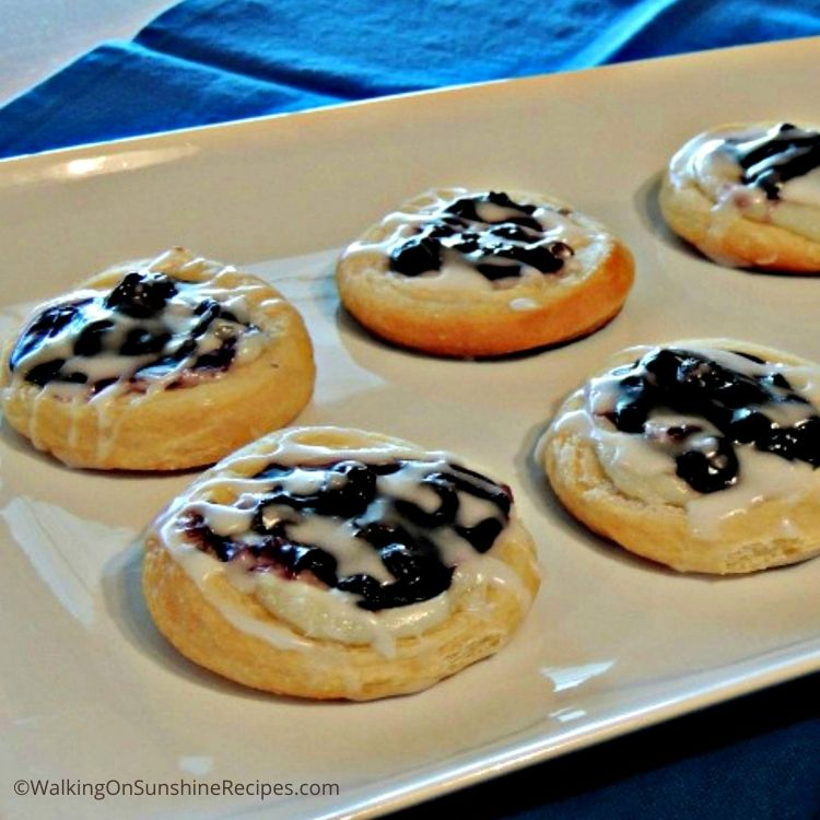 recipes using crescent rolls like these blueberry cream cheese danish.