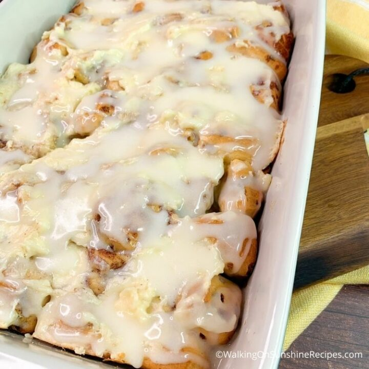 Cinnamon Roll Casserole without Eggs