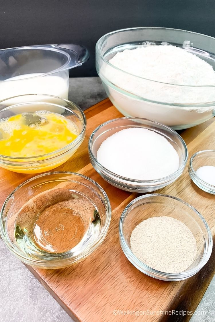 Ingredients for Bread Machine Cinnamon