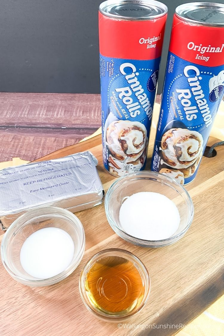 Ingredients for Cinnamon Roll Recipe without Eggs