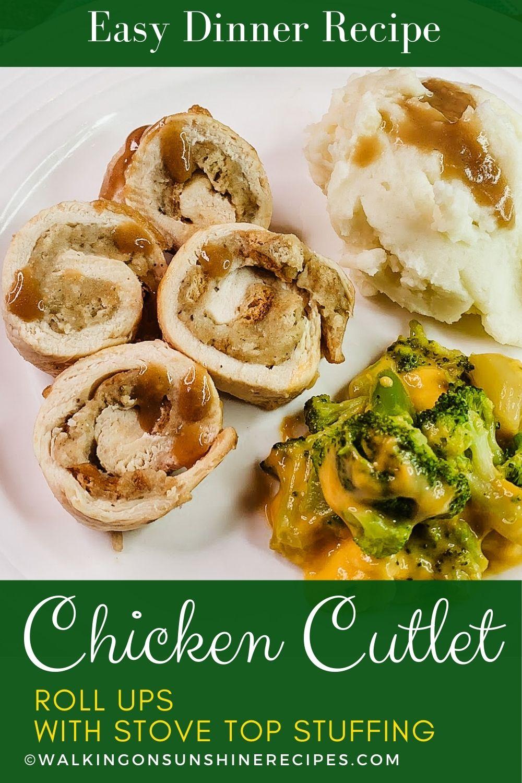chicken stuffing roll ups