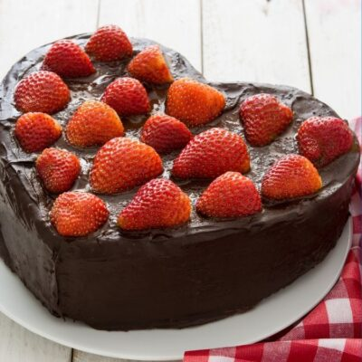 Heart Shaped Cake for Valentine's Day