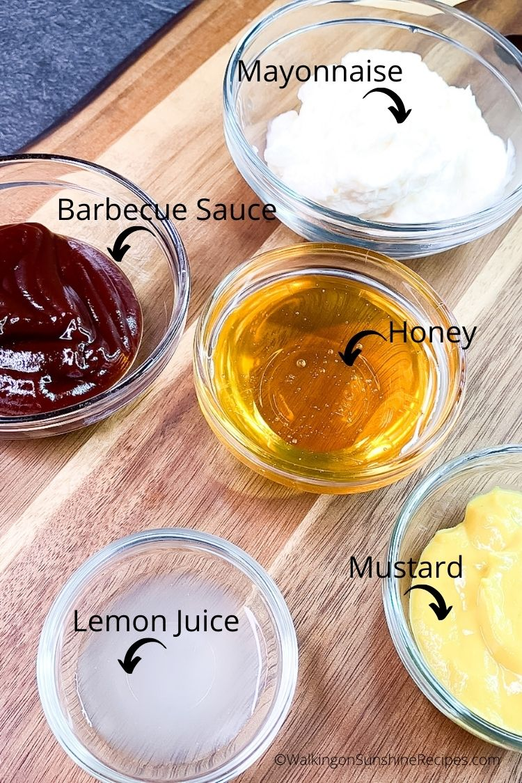 Ingredients for copycat Chick Fil A Dipping Sauce.