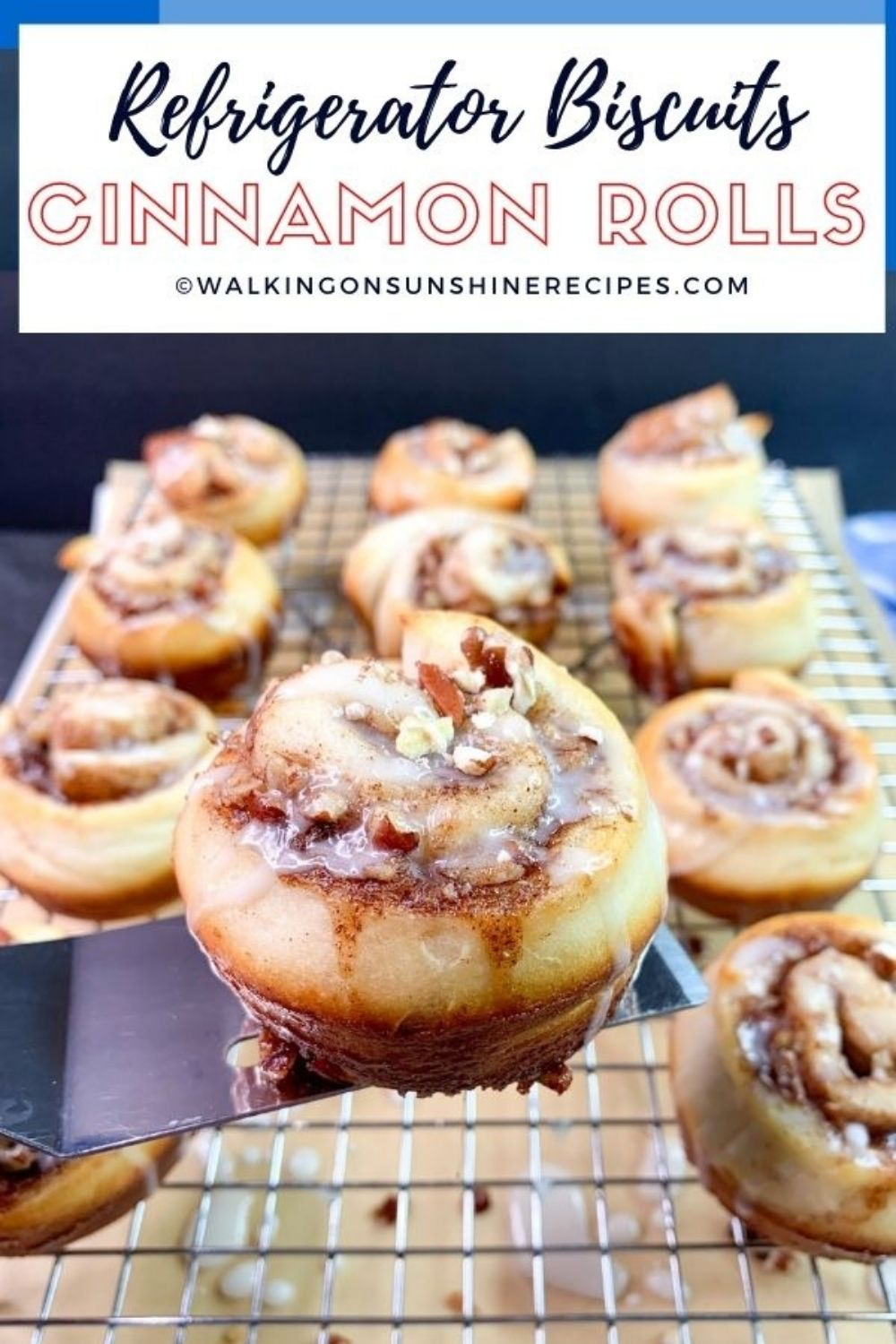 refrigerator biscuits made into cinnamon rolls