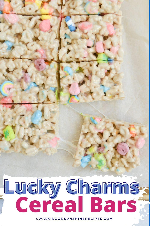 Double marshmallow cereal bar treats.