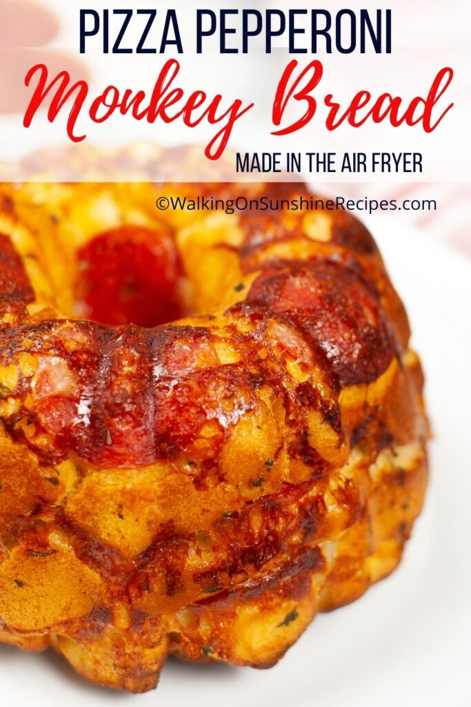 Pizza monkey bread with cheese.