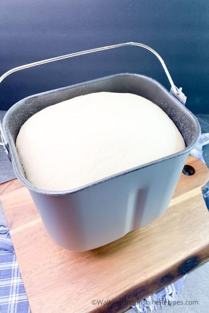 Bread dough in bread machine.