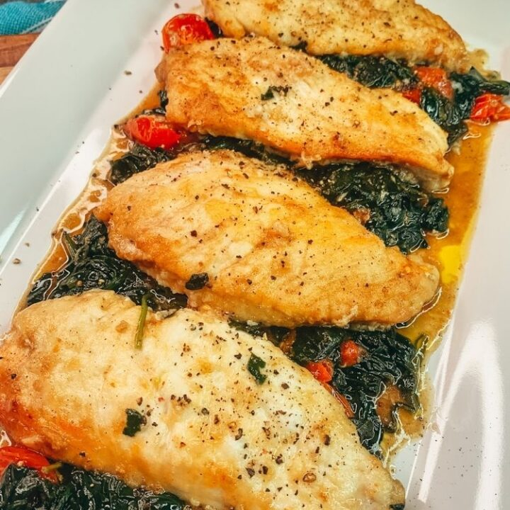 Chicken Cutlets with Spinach